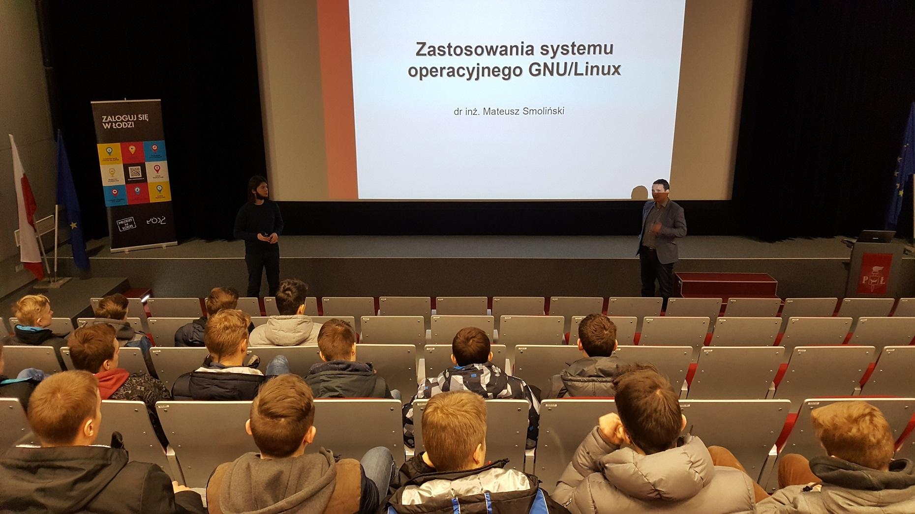 uczniowie na PŁ-CTI-DZO-13.02.2017