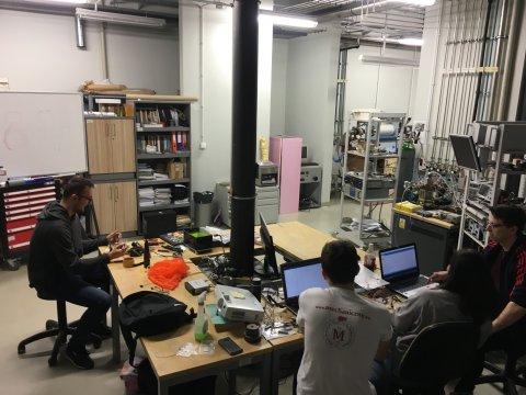 Laboratorium 032 w Fabryce Inżynierów – siedziba koła SKN KOSMOS, fot. Borys Tyran.